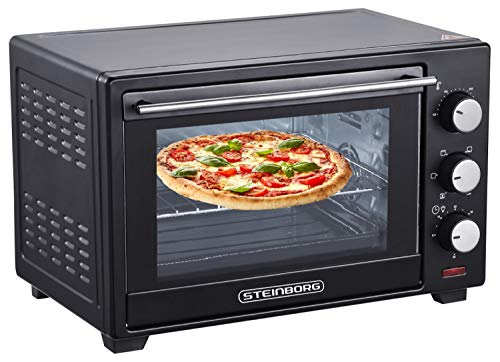Mini Backofen 25 Liter | Pizza-Ofen | 3in1...