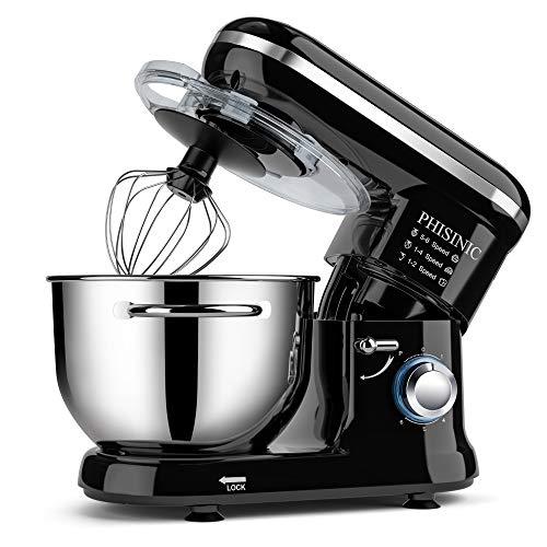 PHISINIC Küchenmaschine 1500W Knetmaschine...