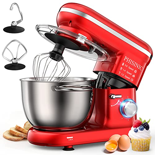 PHISINIC Küchenmaschine Knetmaschine 1500W...